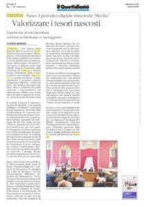 il Quotidiano del Sud 12 ottobre 2019